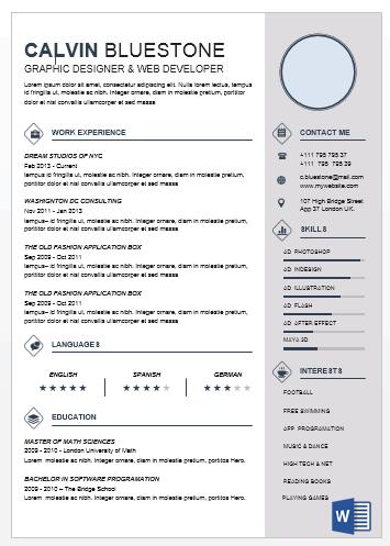 modern elegant word resume best of office word resume templates